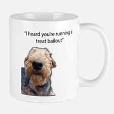 Airedale Terrier Hoping for a Treat Bailout Mugs