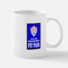 U S 30 Dragstrip Pit Pass Mugs