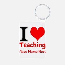 I Love Teaching Keychains