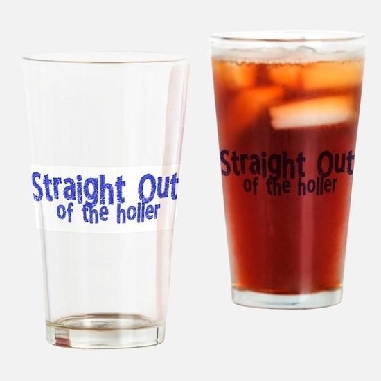 Cute Holler Drinking Glass