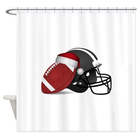 Elegant Christmas Football Shower Curtain