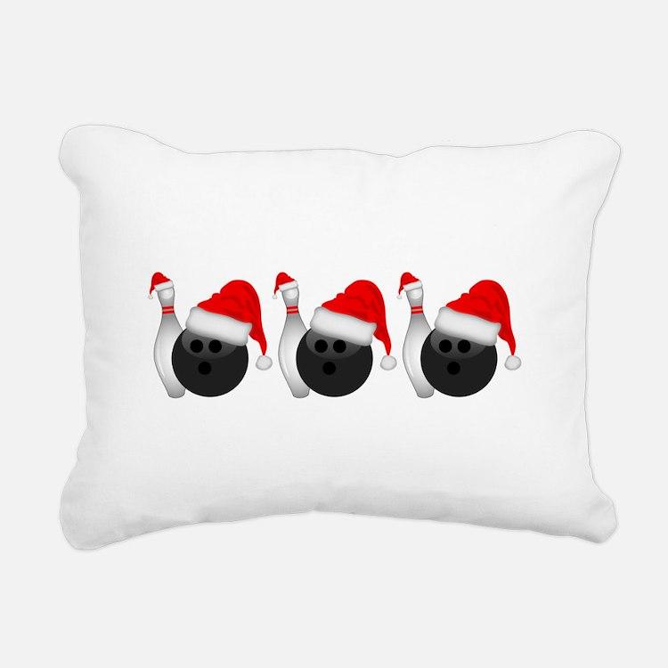 Christmas Bowling Rectangular Canvas Pillow