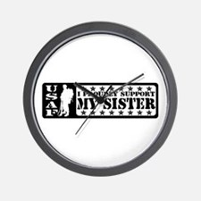 Proudly Support Sis - USAF Wall Clock
