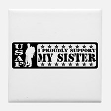 Proudly Support Sis - USAF Tile Coaster