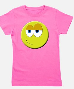 Cool Smiling faces Girl's Tee