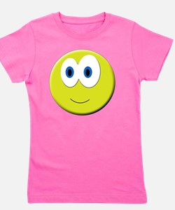 Cute Smiling faces Girl's Tee
