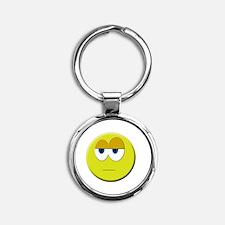 Cute Smile Round Keychain