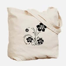 Illustrated Graphic Flower Tote Bag