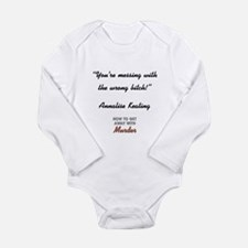 YOU'RE MESSING... Long Sleeve Infant Bodysuit