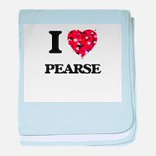 I love Pearse Massachusetts baby blanket