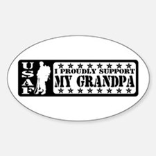 Proudly Support Grndpa - USAF Oval Decal