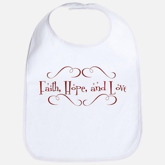 faith, hope, love Bib