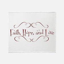 faith, hope, love Throw Blanket