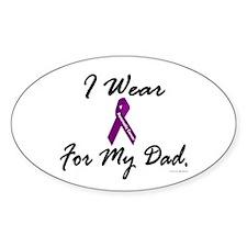 I Wear Purple 1 (Dad PC) Oval Decal