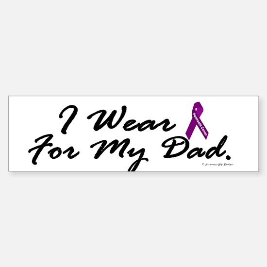I Wear Purple 1 (Dad PC) Bumper Bumper Bumper Sticker