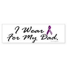 I Wear Purple 1 (Dad PC) Bumper Bumper Sticker