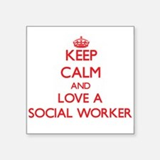 """Funny Clinical social work supervision Square Sticker 3"""" x 3"""""""