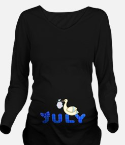Maternity Month Due Long Sleeve Maternity T-Shirt