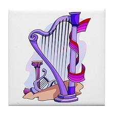 The Harp Tile Coaster