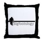 Bigfootology Bar Logo Throw Pillow