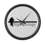 Bigfootology Bar Logo Large Wall Clock