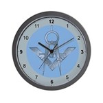Blue Lodge Circle Wall Clock