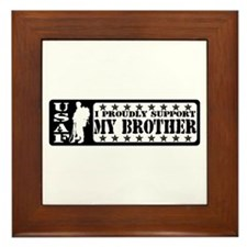 Proudly Support Bro  - USAF Framed Tile