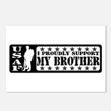 Proudly Support Bro  - USAF Postcards (Package of