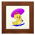 Baby Duck Framed Tile