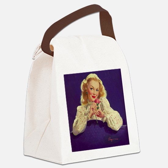 Funny Sexy girls erotic books Canvas Lunch Bag