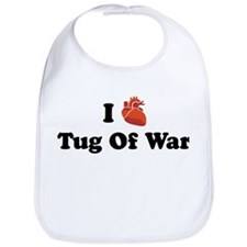 I (Heart) Tug Of War Bib