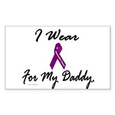 I Wear Purple 1 (Daddy PC) Rectangle Decal