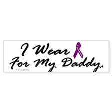 I Wear Purple 1 (Daddy PC) Bumper Bumper Sticker