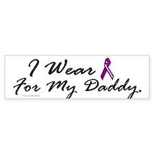 I Wear Purple 1 (Daddy PC) Bumper Car Sticker