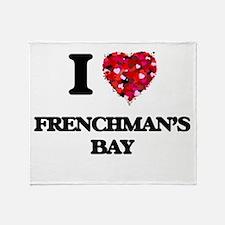 I love Frenchman'S Bay Virgin Island Throw Blanket