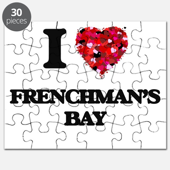 I love Frenchman'S Bay Virgin Islands Puzzle