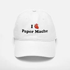 I (Heart) Paper Mache Baseball Baseball Cap