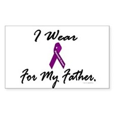 I Wear Purple (Father PC) Rectangle Decal