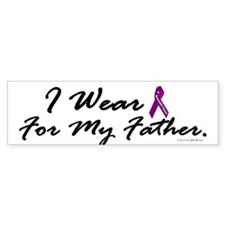 I Wear Purple (Father PC) Bumper Bumper Sticker