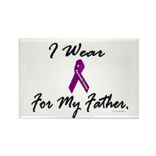 I Wear Purple (Father PC) Rectangle Magnet