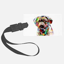 Colorful Bulldog Luggage Tag