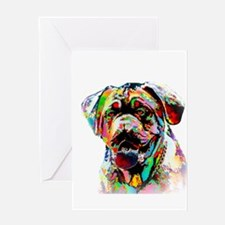 Colorful Bulldog Greeting Cards