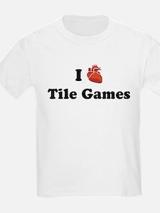 I (Heart) Tile Games T-Shirt