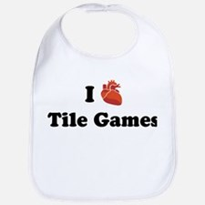 I (Heart) Tile Games Bib