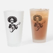 Mariachi of the Dead Drinking Glass