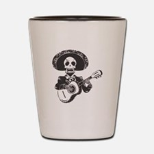 Mariachi of the Dead Shot Glass