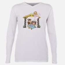 Cute Womens holiday Plus Size Long Sleeve Tee
