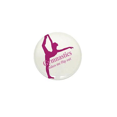 Gymnastics Makes Me Flip Out Mini Button (10 pack)