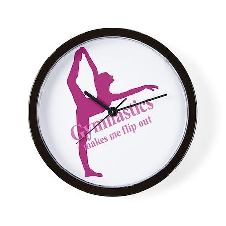 Gymnastics Makes Me Flip Out Wall Clock