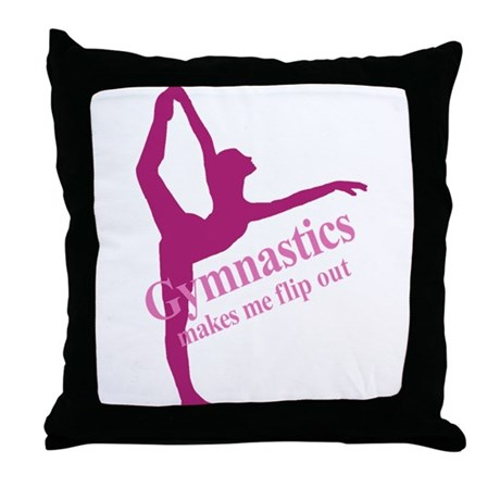 Gymnastics Makes Me Flip Out Throw Pillow